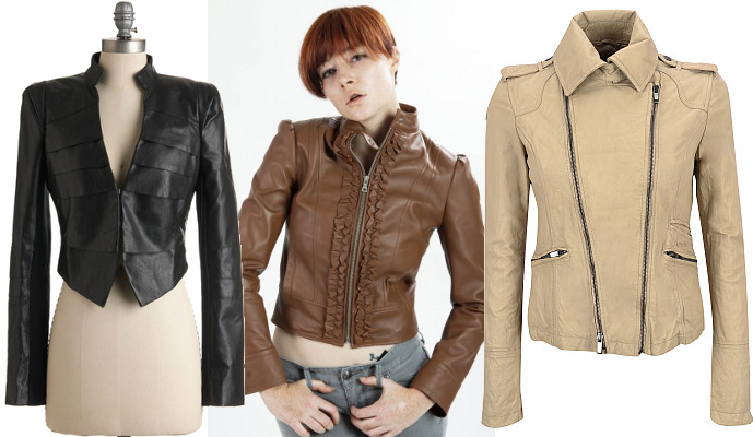 Girly leather jackets