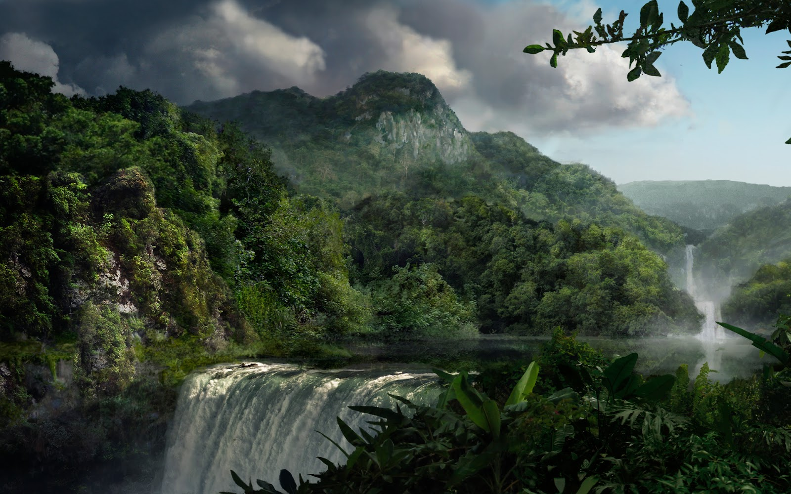 Hd Waterfall Backgrounds: Tropical Waterfall HD Wallpapers