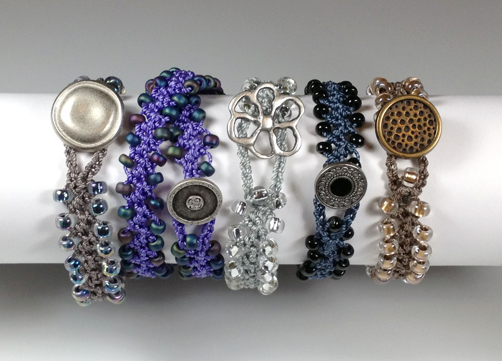 Bead Crochet : ... in Fiber - News and Such: Turkish Flat Bead Crochet Bracelet Tutorial
