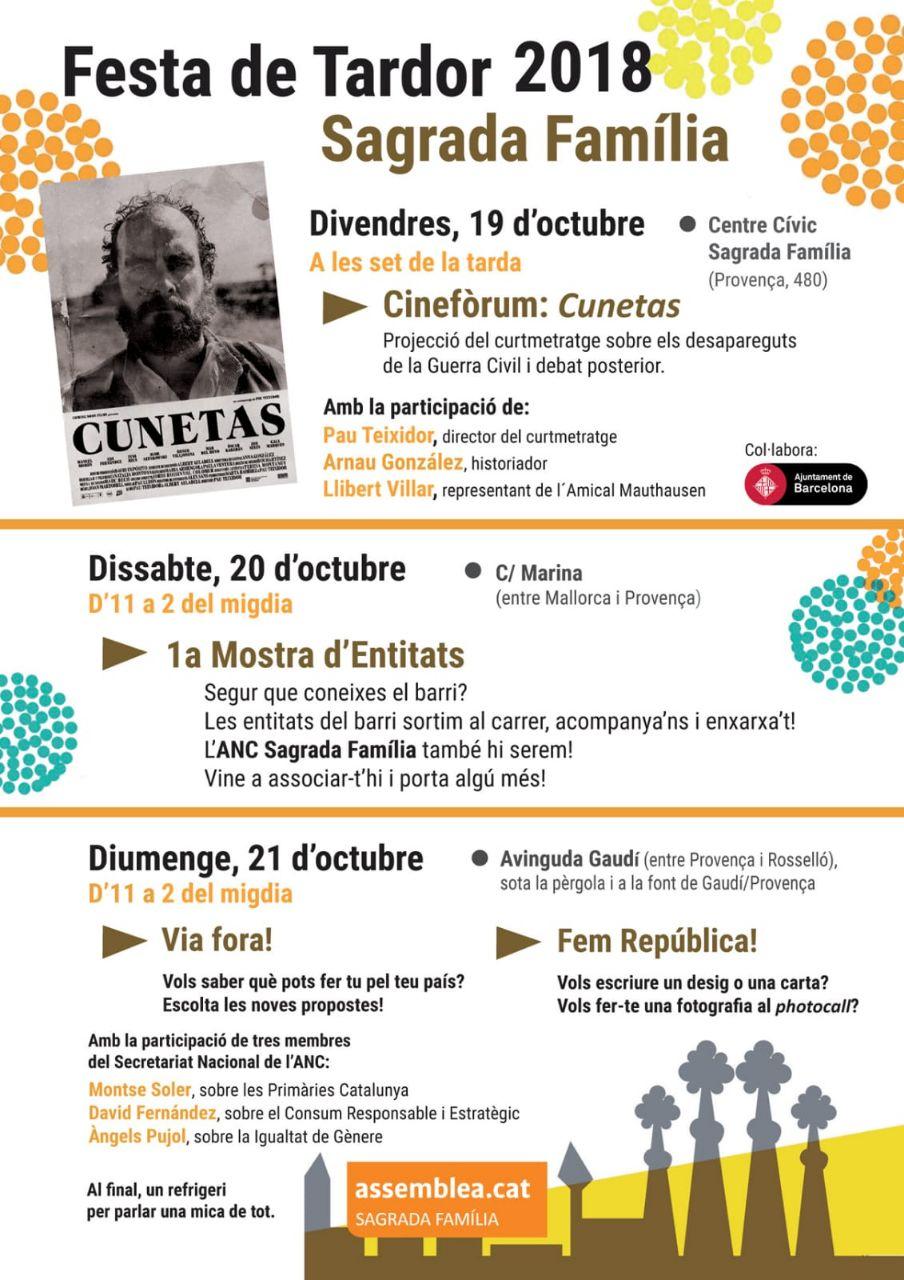 Festa de Tardor de la Sagrada Família el 19, 20 i 21 d'octubre