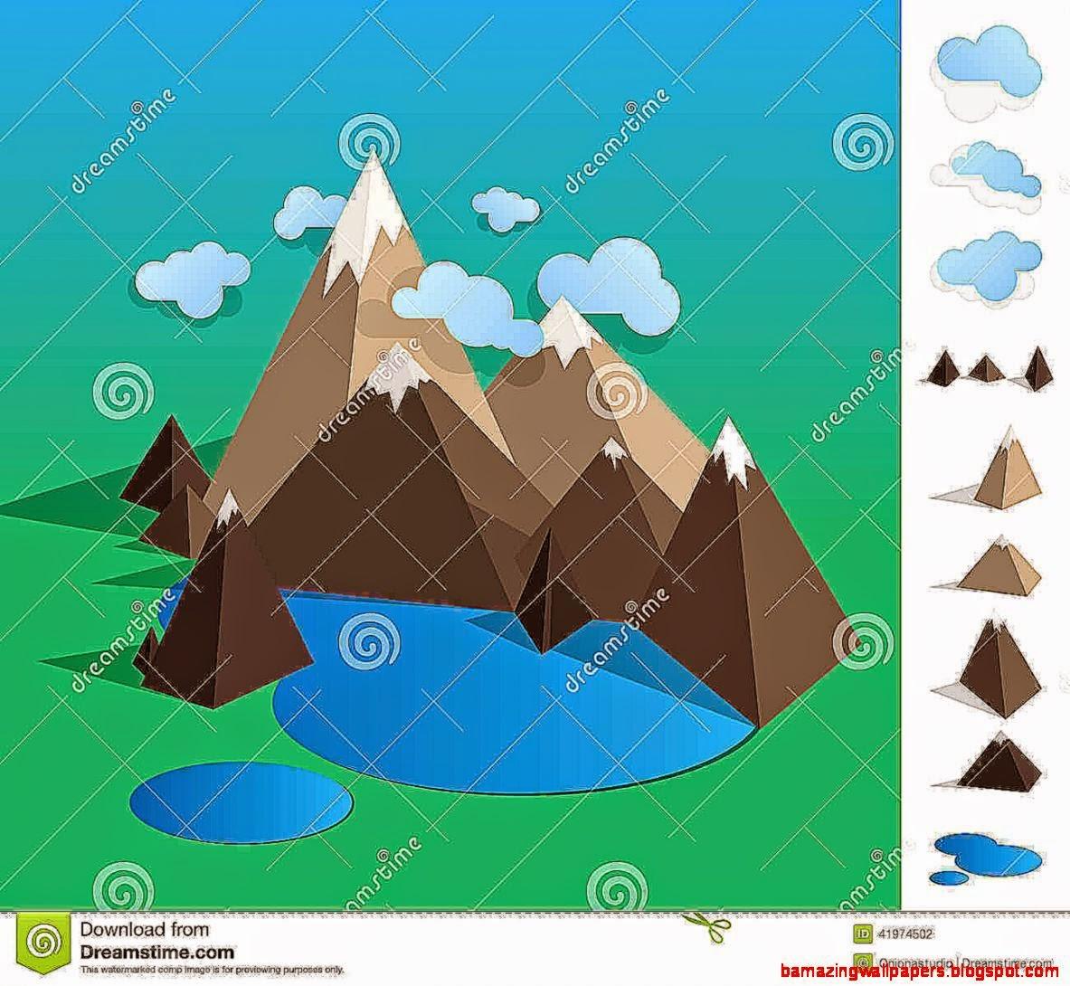 geometric landscape painting  fun