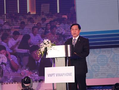 Phát biểu trong buổi lễ ra mắt tập đoàn VNPT VinaPhone