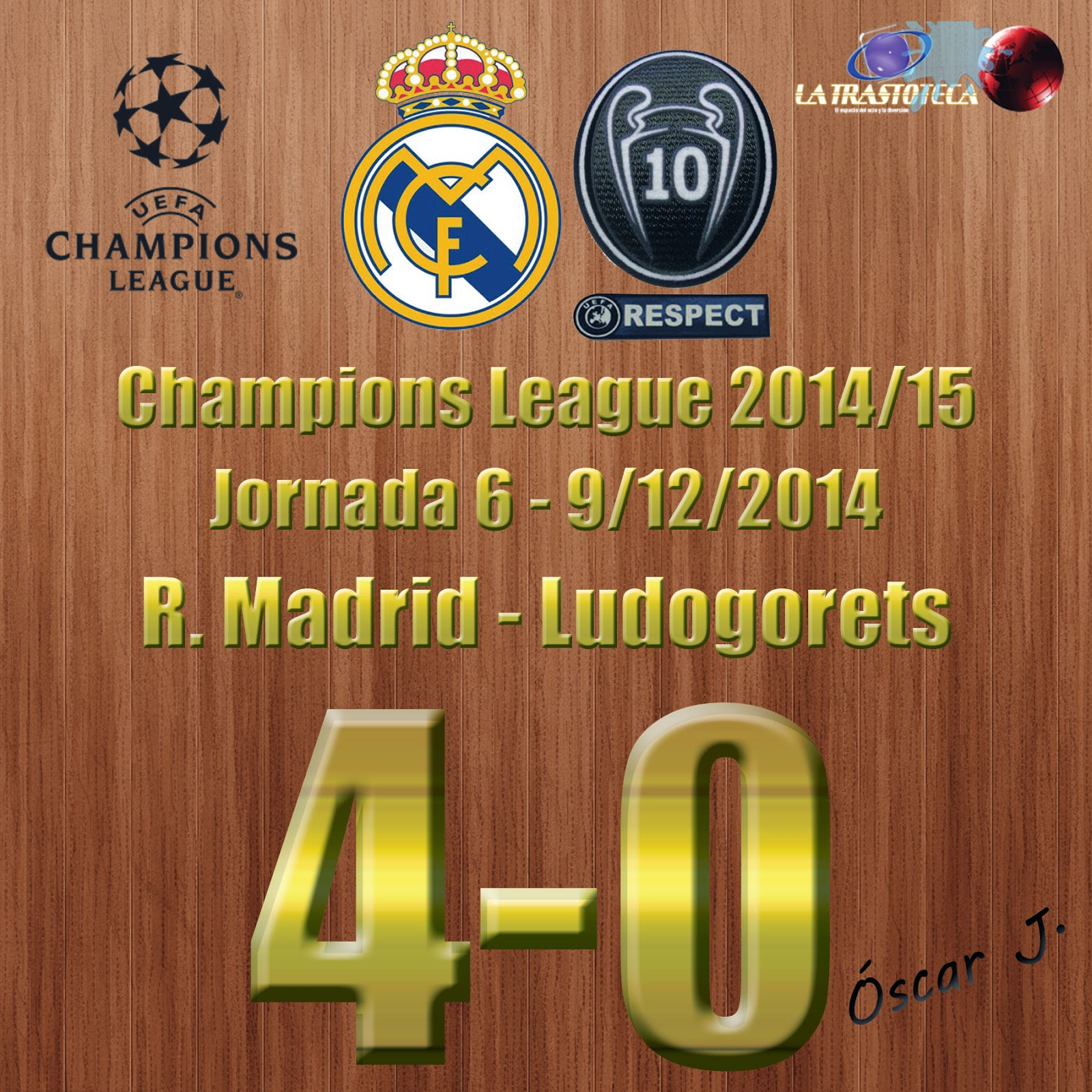 Gareth Bale (2-0) - Real Madrid 4-0 Ludogorets - Champions League 2014/15 - Jornada 6 - (9/12/2014)