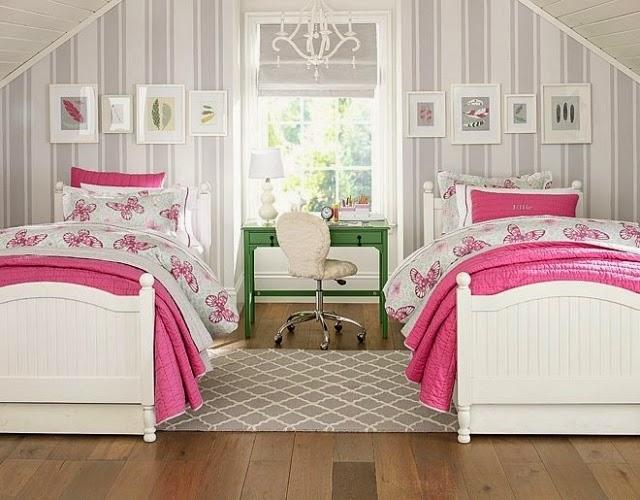 Cuartos peque os para hermanas adolescentes dormitorios - Habitaciones juveniles para dos ...
