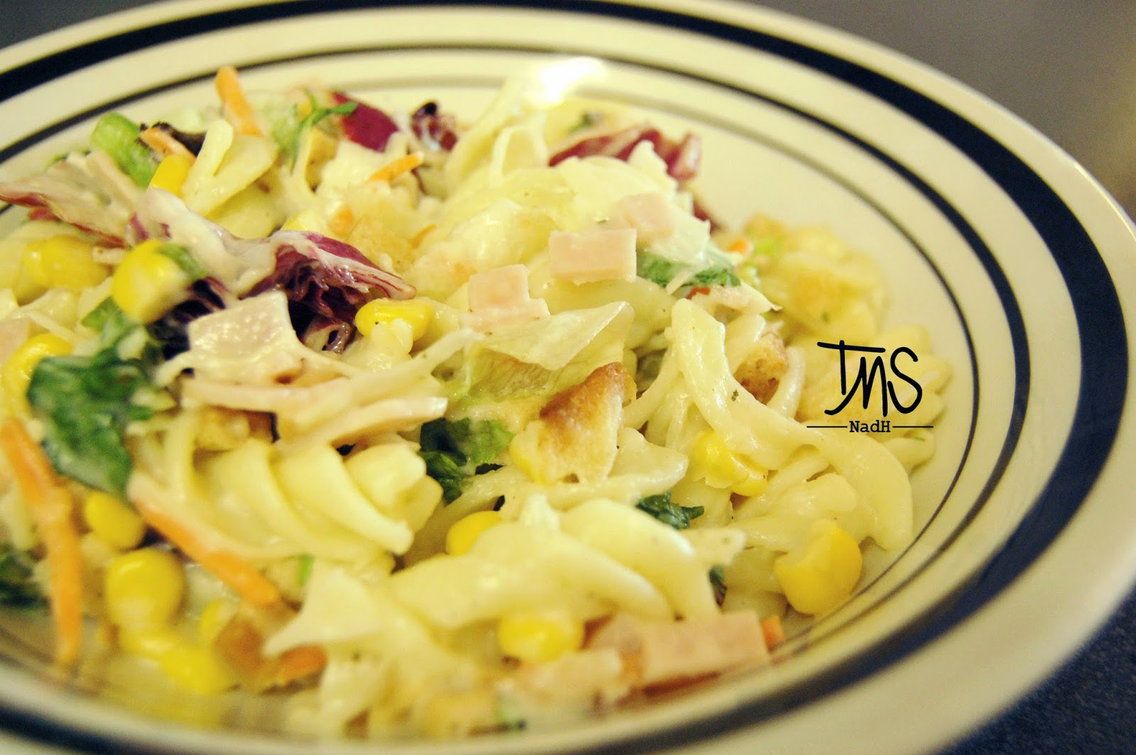 pasta salad lemak berkrim