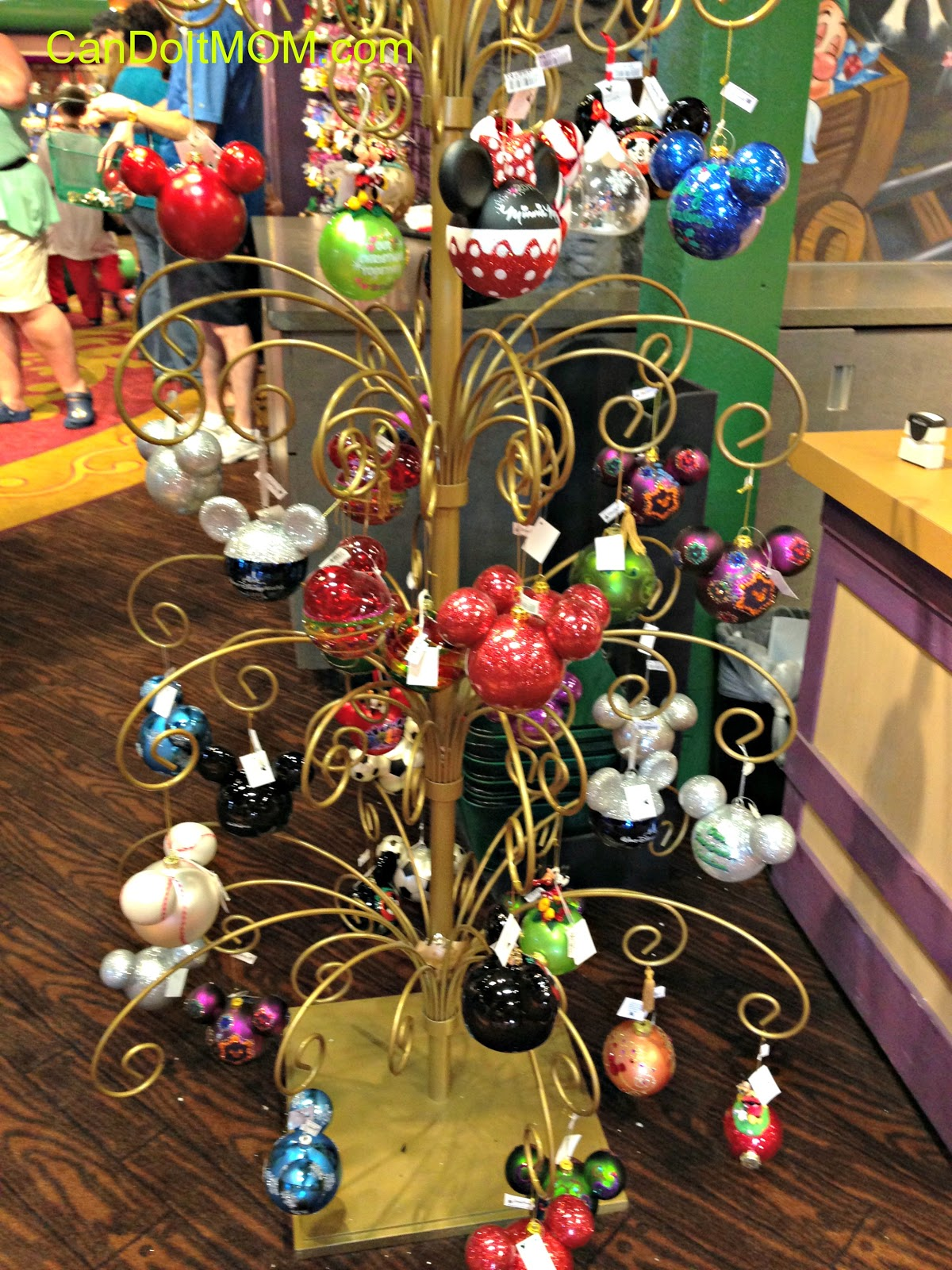 Disney christmas decorations for home - I Usually Take Some Of The Overflow Of Disney Ornaments And Hang Them From The Ceiling Or On Walls Or In The Kids Room