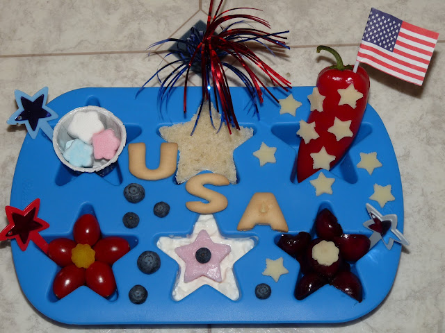 star muffin tin 4th of july