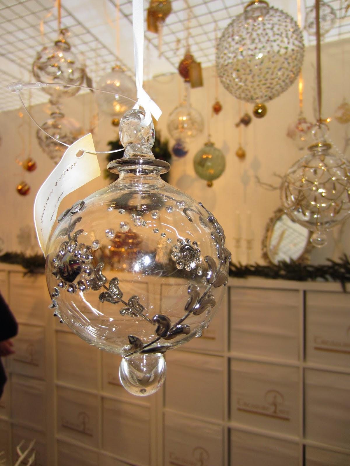 Glass xmas decorations