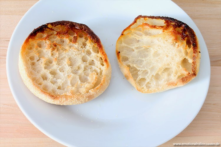 Angebratene English Muffins
