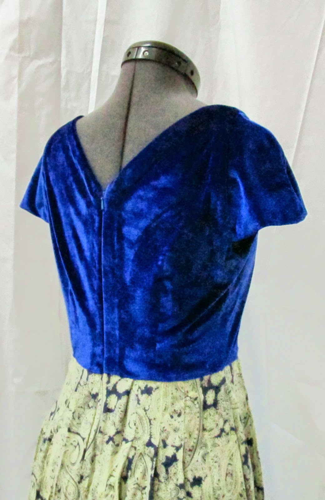 Darlene's V Neck Flutter Dress - Back