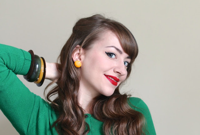 ChronicallyVintage Etsy shop - yellow earrings and bangles