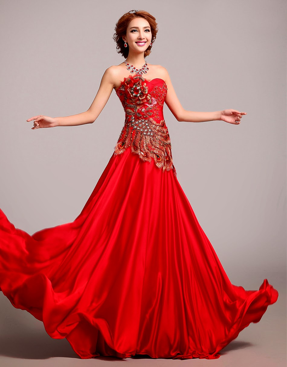 What 39 s in a chinese wedding dress wedding stuff ideas for Asian red wedding dresses