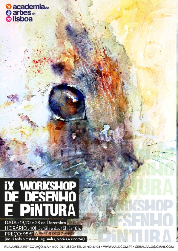 Workshop de desenho e pintura em Lisboa (nas férias de Natal)