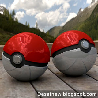 Karya Tutorial Modeling Desain Pokeball 3D di Blender