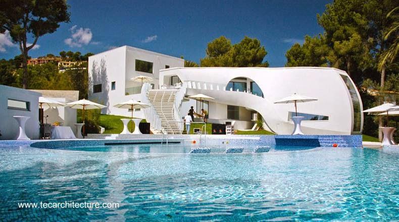 Residencia de diseño orgánico vanguardista en España