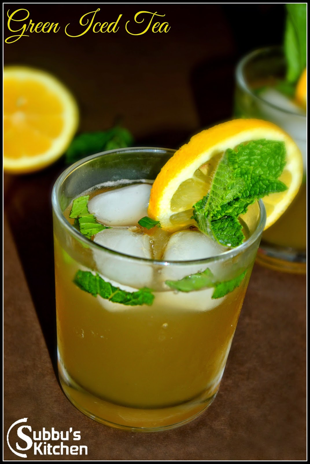 Ginger-Mint-Green Iced Tea