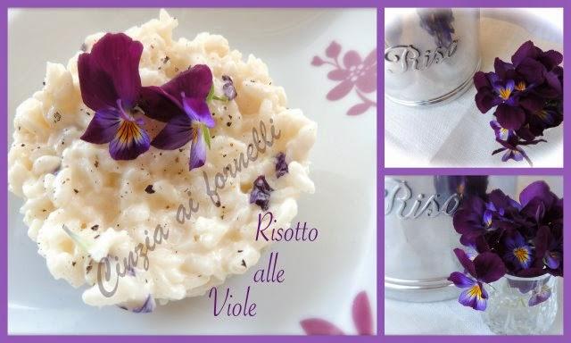 risotto con viole di prato