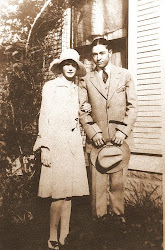 Clyde and Elanor Williams {old girlfreind}.