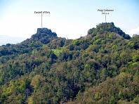 El Castell d'Orís i el Puig Colomer des dels turons de Cal Carriel