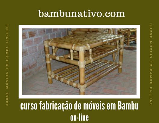 Curso fabricação de móveis em bambu online