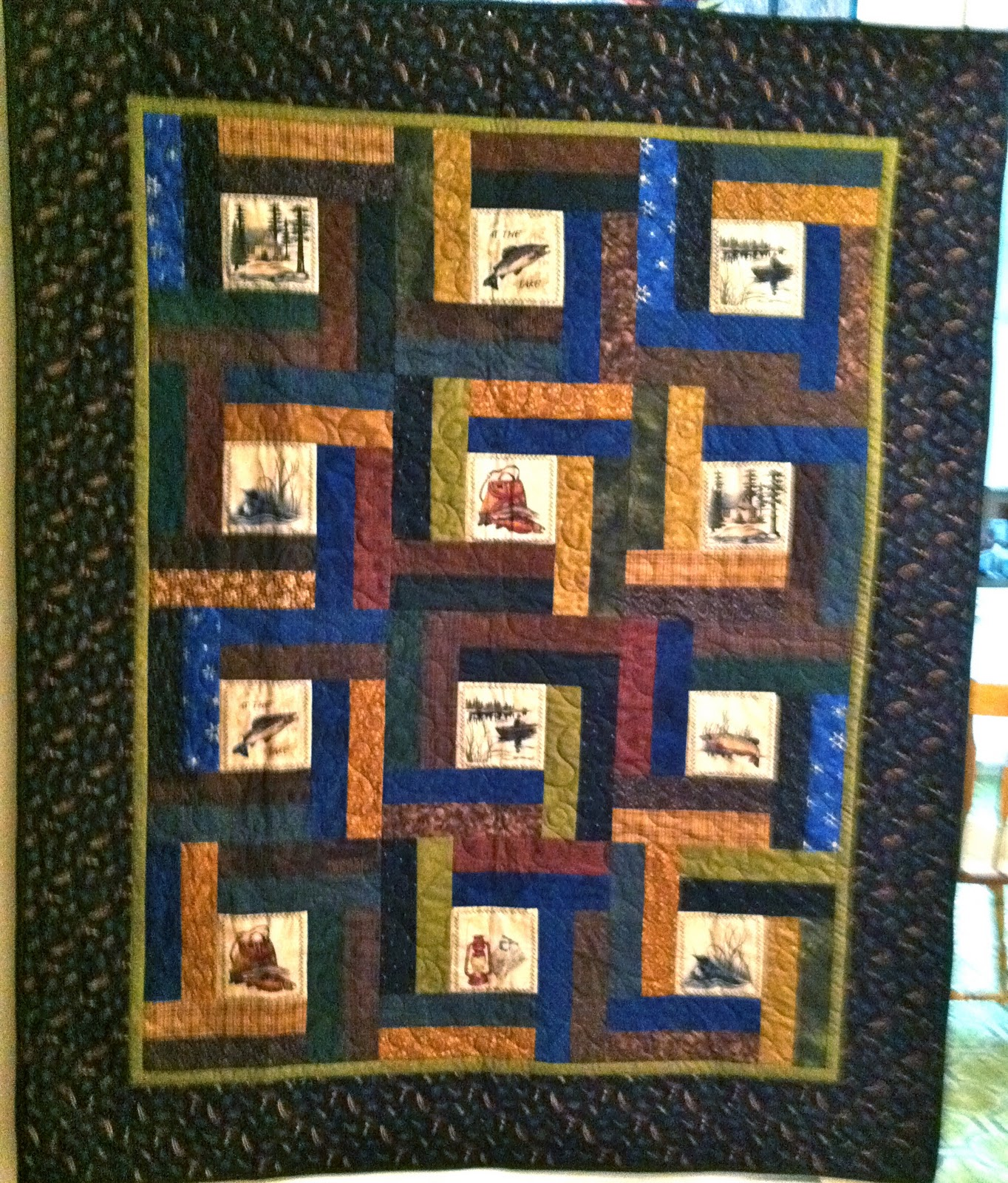Linda's Quiltmania: Mark's Fly Fishing Quilt : fishing quilt - Adamdwight.com