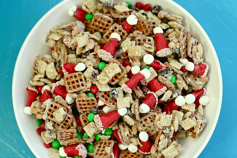 Juneberry Lane: Holiday Snack Mix (and Santa Hats out of Bugle Corn ...