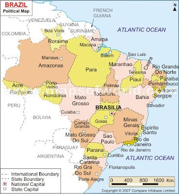 Mappa di Brasile Territorio