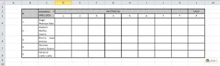 Resultado en Excel al copiar una tabla con diferentes celdas combinadas desde Word