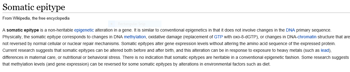 Somatic Epitype