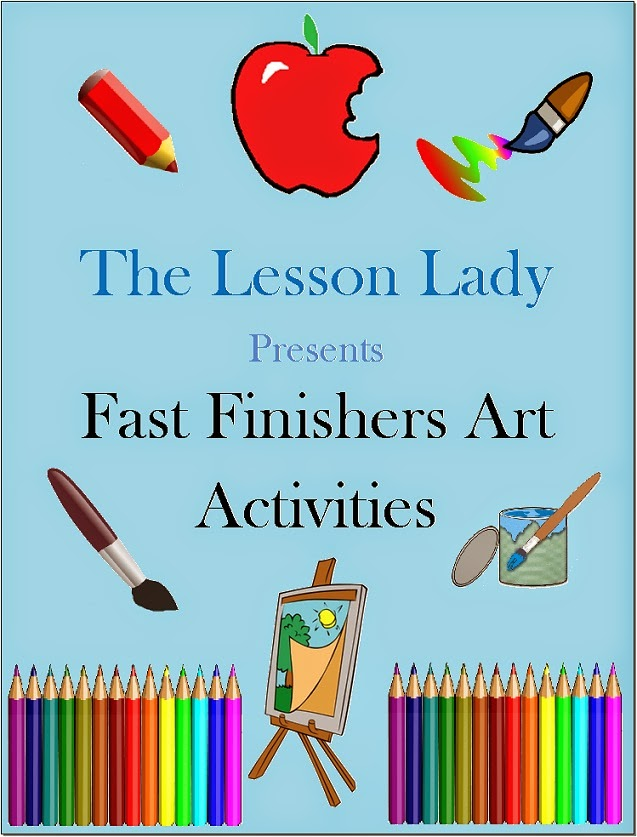 http://www.teacherspayteachers.com/Product/50-Creative-Art-Activities-for-Fast-Early-Finishers-Enrichment-192152