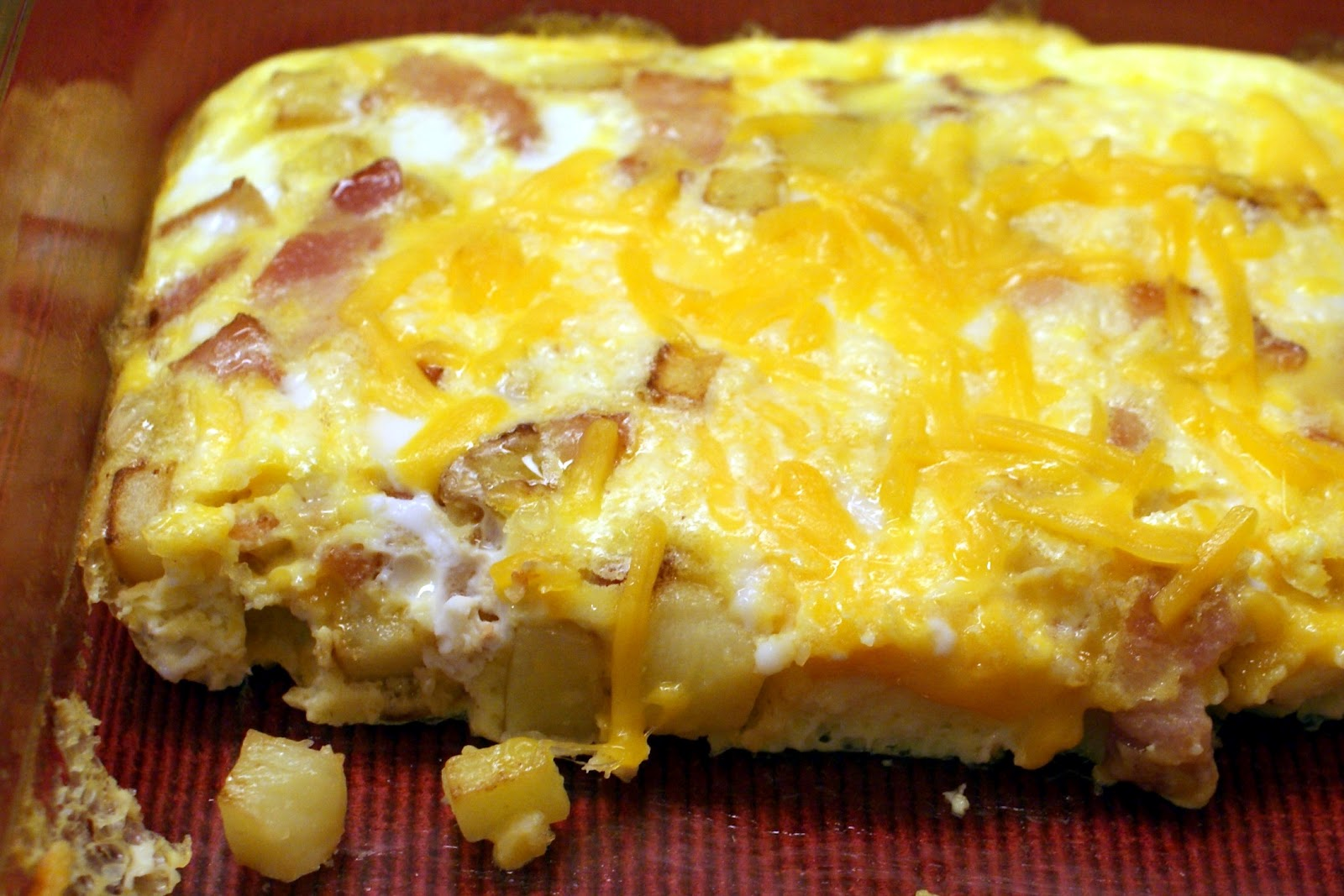 The Baker's Mann: Potato, Bacon and Cheese Omelet