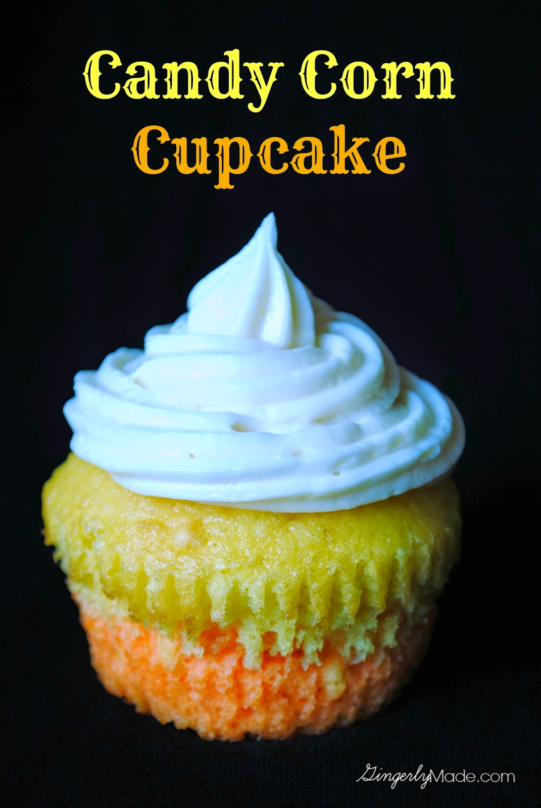 Candy Corn Cupcakes with Fanta