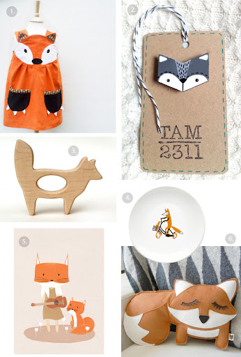 cute fox accessories from etsy