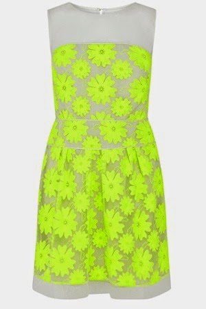 karenmillen neon floral dress