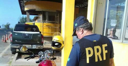 PRF prende candidato a vereador com moto roubada na BR 343