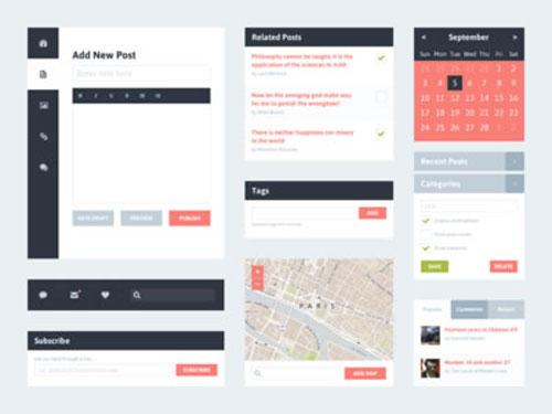Freebie PSD: Flat UI Kit 2