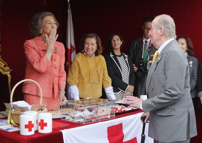 Queen Sofia of Spain attends the Red Cross Fundraising day