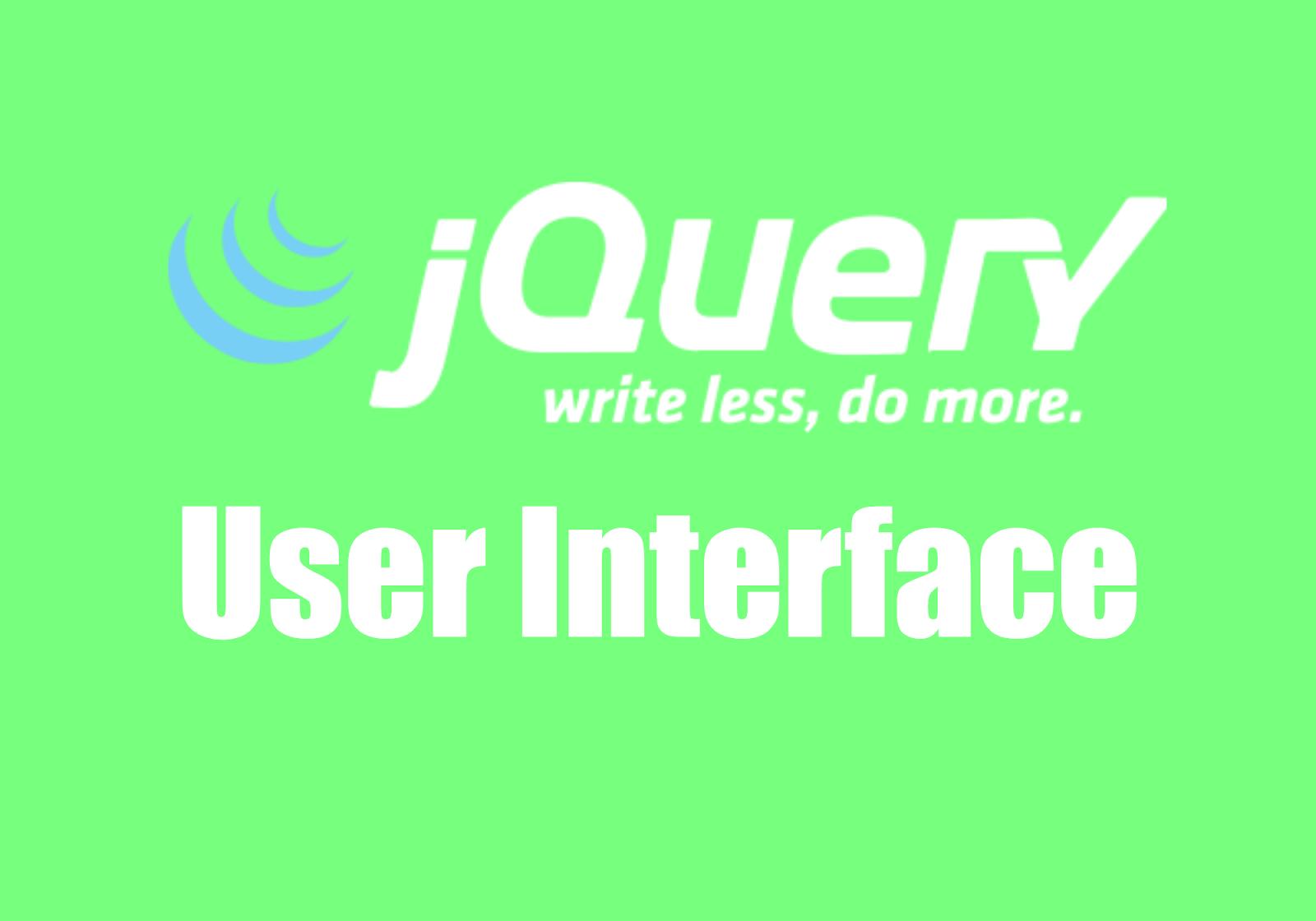 jQuery Based UI Frameworks