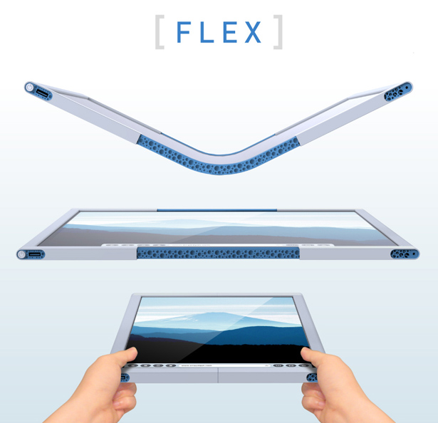 Flex Is Our Future Revolutionary Collapsible Tablet Computer Seen On www.coolpicturegallery.us