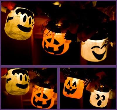 Guirnalda para Halloween con Materiales Reciclados