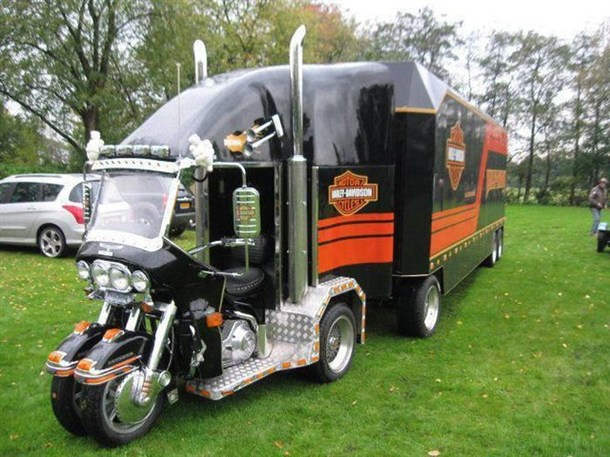 semi truck with bathroom. Half bike  half semi truck fully awesome Manliest