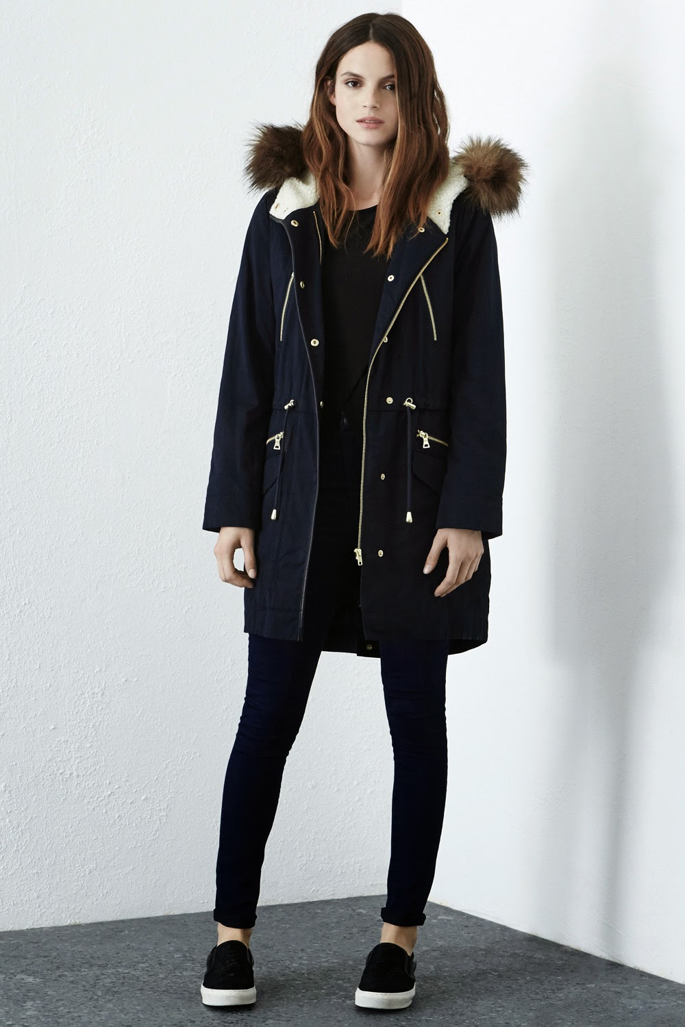 warehouse navy parka