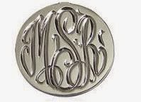 engraved silver ring with initials