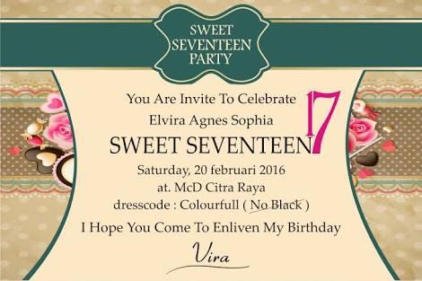 Contoh invitation birthday party sweet seventeen invitationswedd contoh undangan ulang tahun surat stopboris Image collections