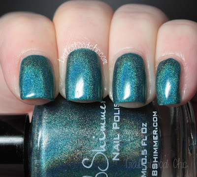 kbshimmer up and cunning swatch