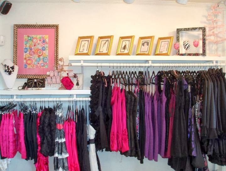 black pink girly boutique shopping