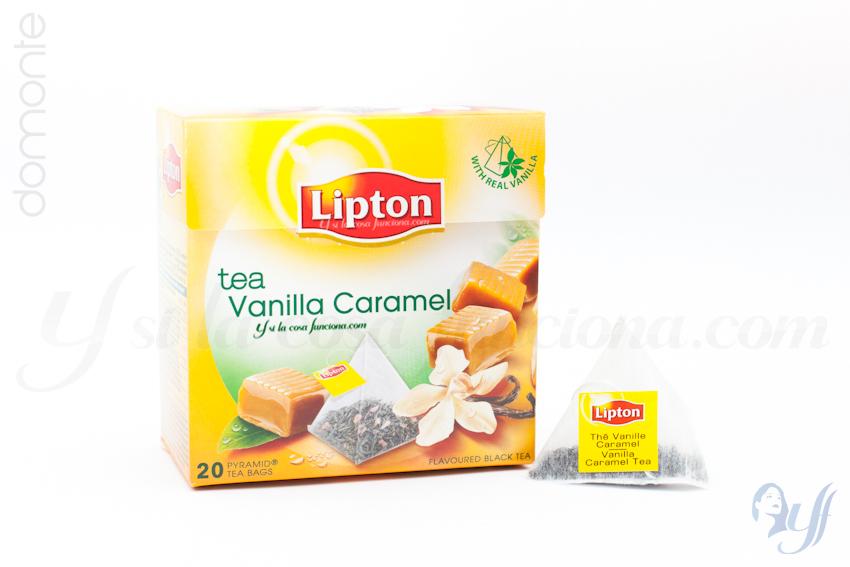 Té Lipton Vanilla Caramel Caja y Bolsita