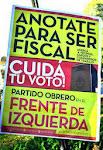 Para que no se le escape ni un solo VOTO a la IZQUIERDA,  Sumate a fiscalizar!