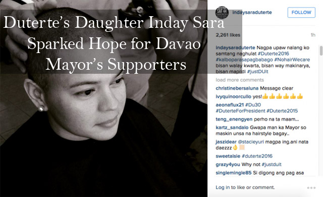 Duterte's Daughter Inday Sara Sparked Hope for Davao Mayor's Supporters