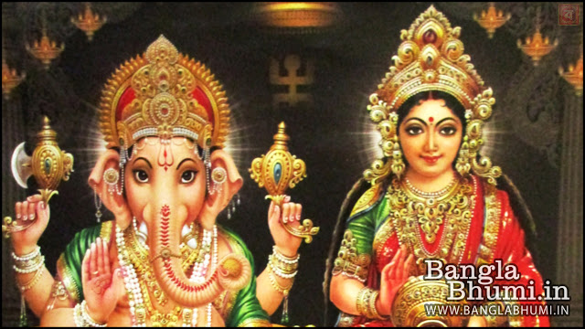 Maa Laxmi & Lord Ganesha Indian God 1366x768 Wide Wallpaper